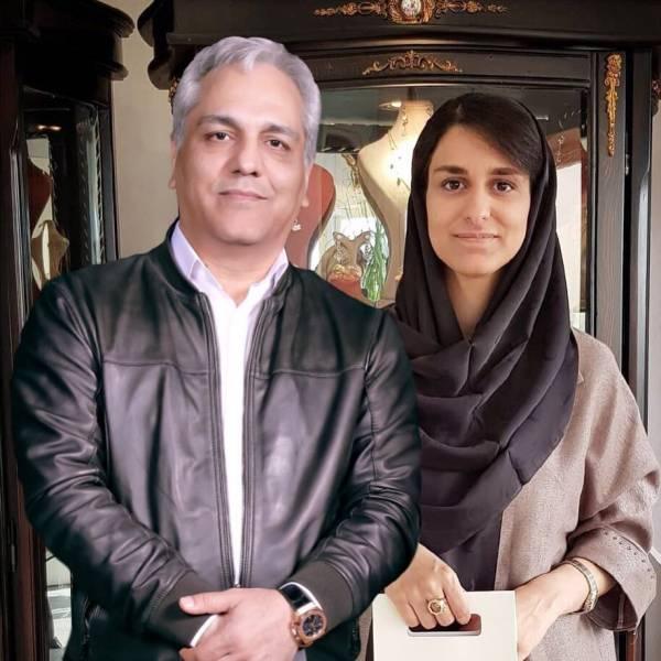 مهران مدیری در کنار دخترش