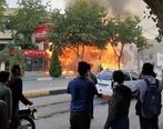نخستین ویدئو از تخریب و آتش زدن اموال عمومی دیشب در تهران توسط صورت پوشیدهها + فیلم