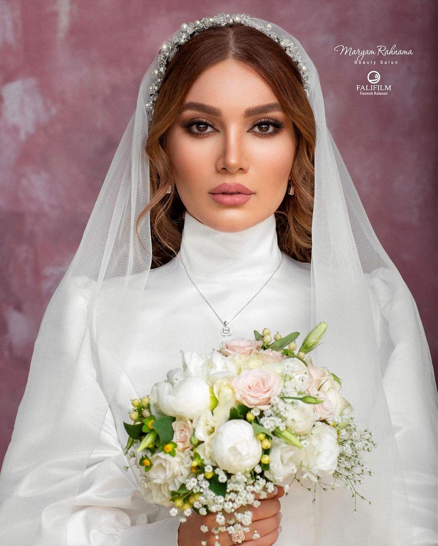 لباس عروس شیک و گران قیمت متین ستوده + عکس
