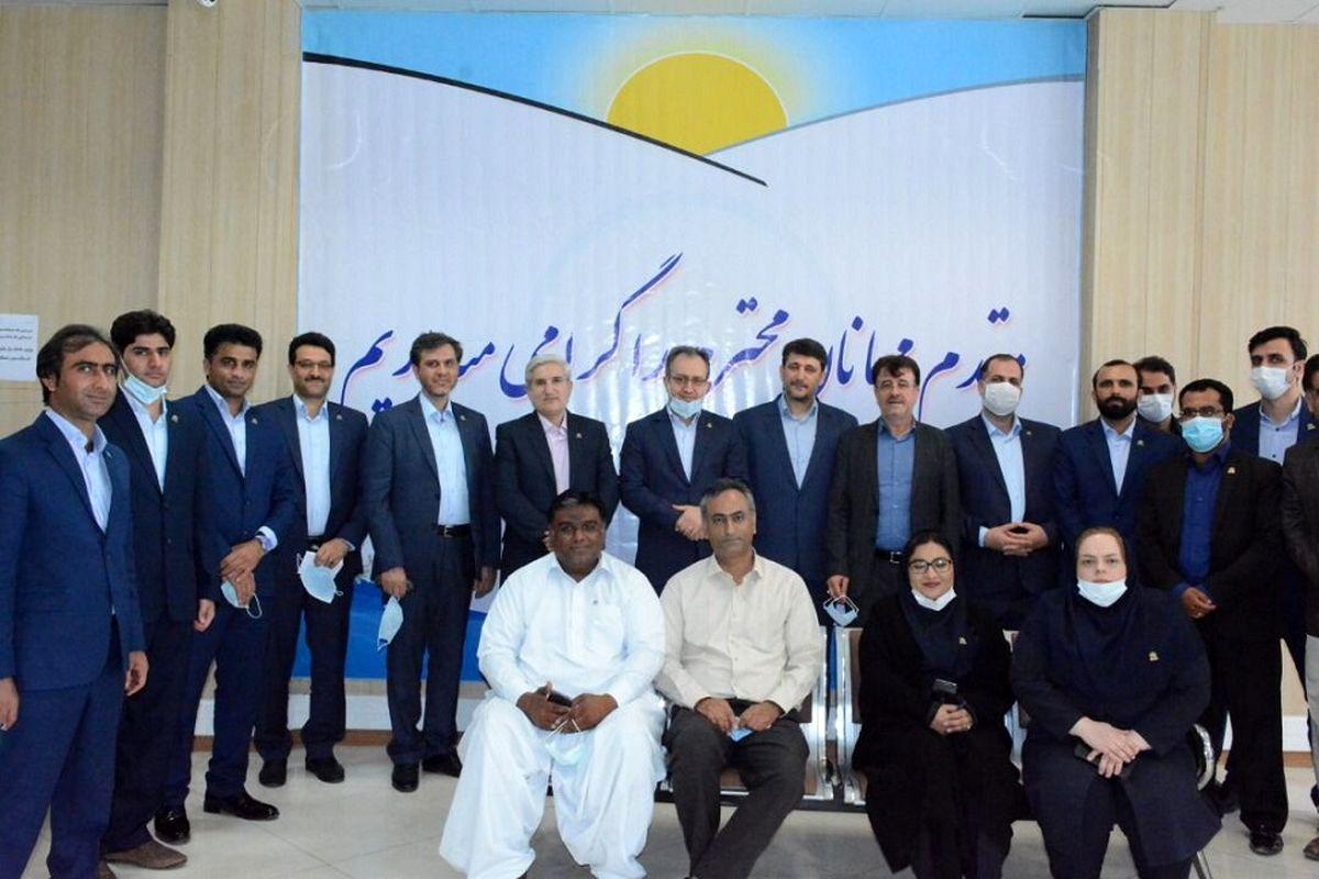 بازدید مدیرعامل و اعضای هیات مدیره بیمه ایران معین از شعبه چابهار