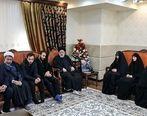 دیدار رییس قوه قضاییه با خانواده سردار سلیمانی