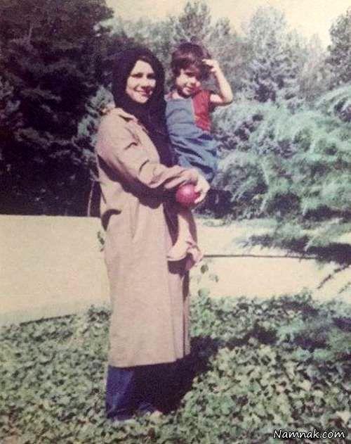 سارا بهرامی و مادرش