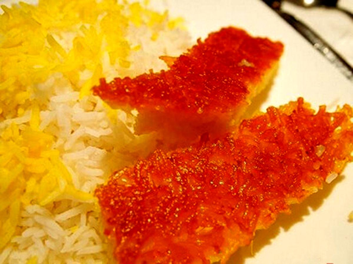 دستور پخت ته دیگ زعفرانی و طلایی