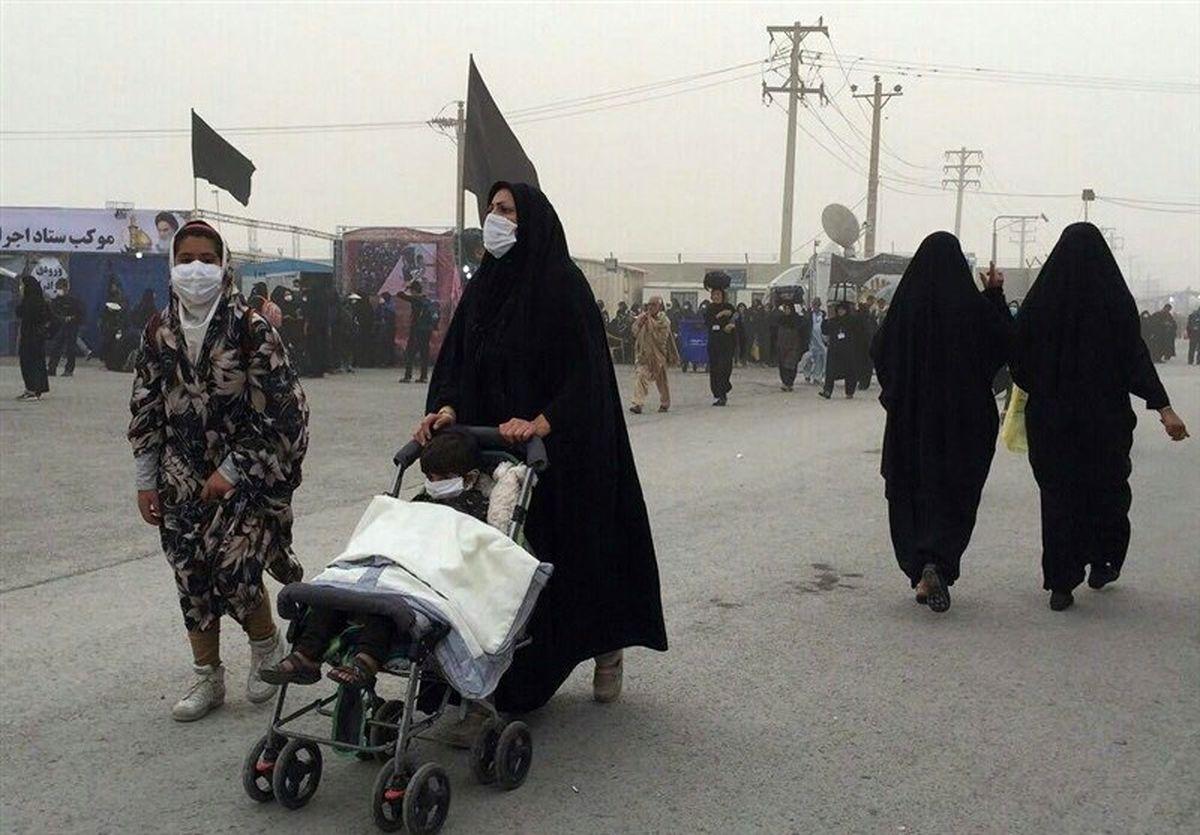 وقوع پدیده گرد و خاک در مرز مهران