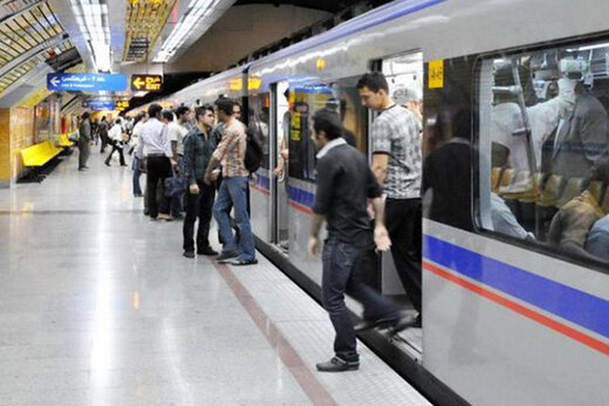 اختلال در خط دو مترو تهران