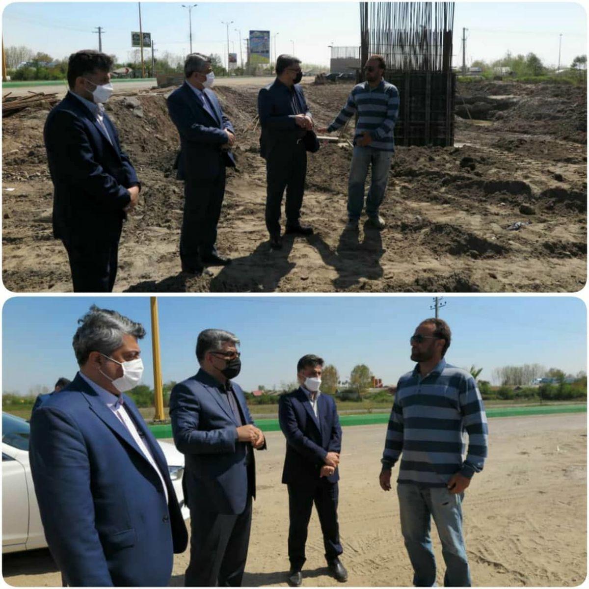 بازدید سرپرست سازمان از روند پیشرفت عملیات اجرایی راه آهن رشت به منطقه آزاد انزلی
