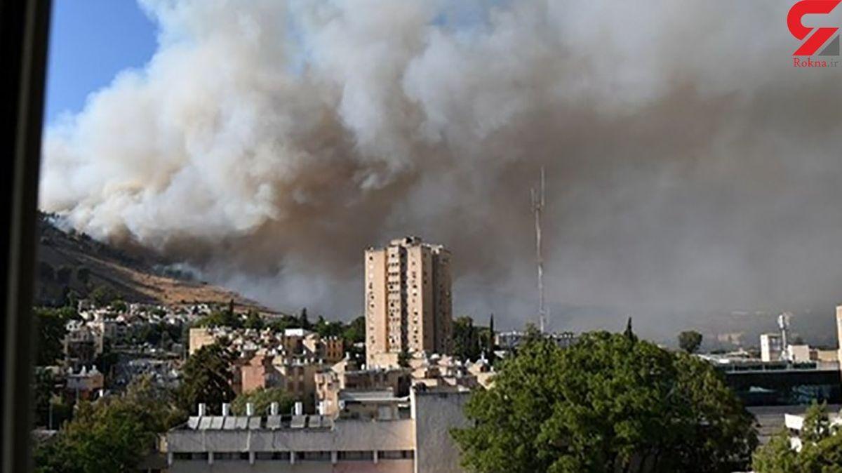 آتش سوزی عطیم در پایگاه نظامی + فیلم