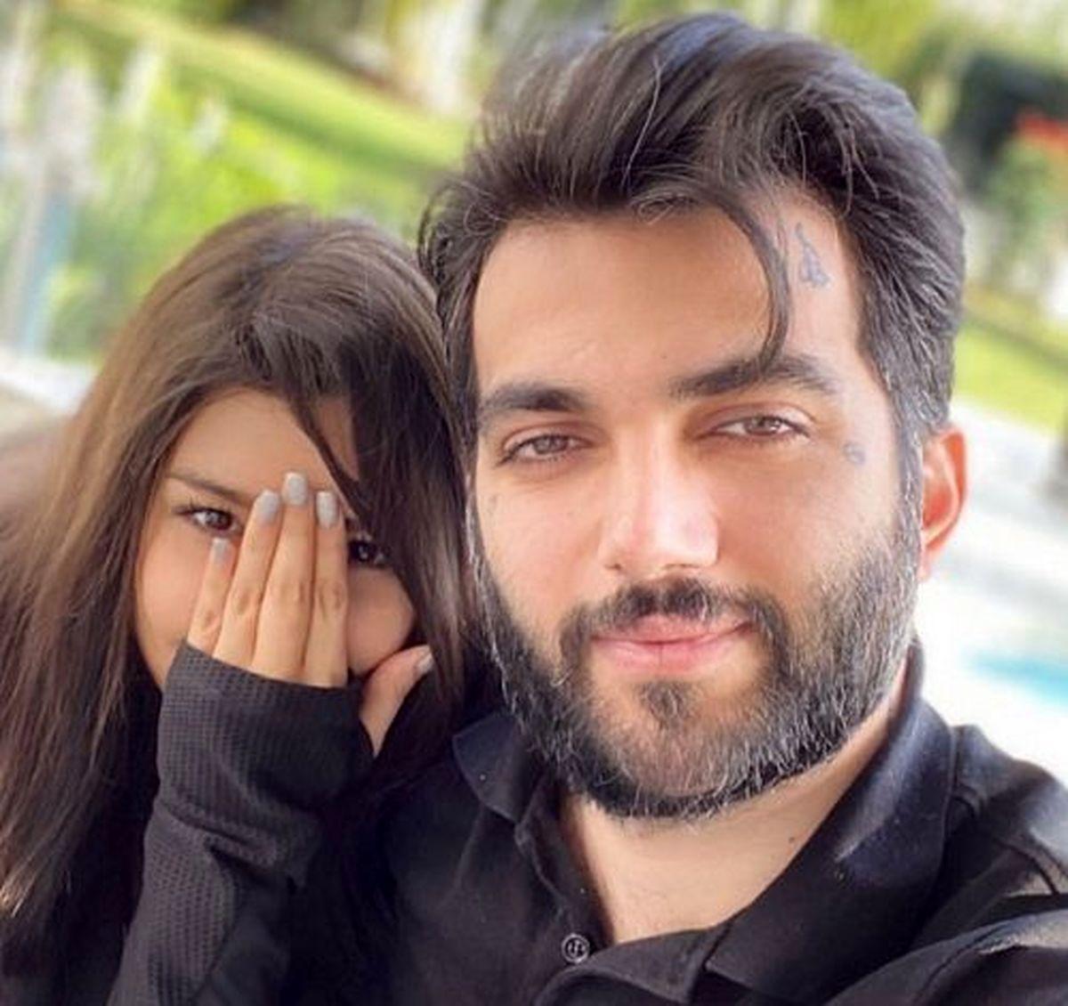 نيلي افشار عکس آرون افشار و همسرش