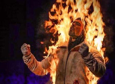 آتش گرفتن ارشا اقدسی در جشن حافظ ! + فیلم