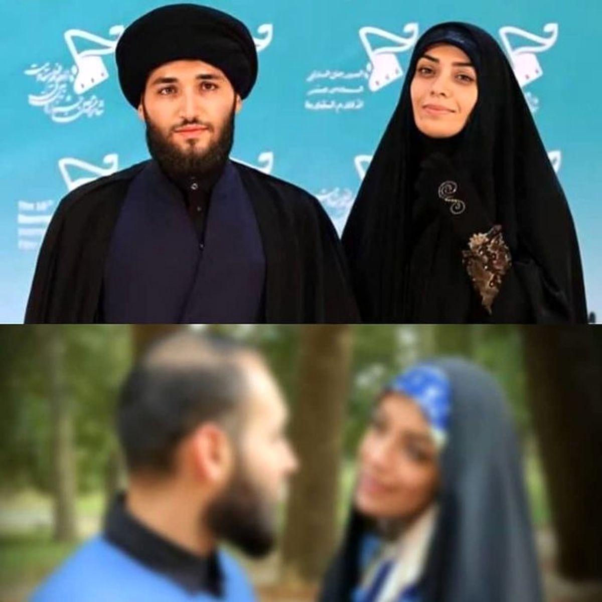 الهام چرخنده و همسر طلبه اش در عراق | الهام چرخنده و همسر سومش