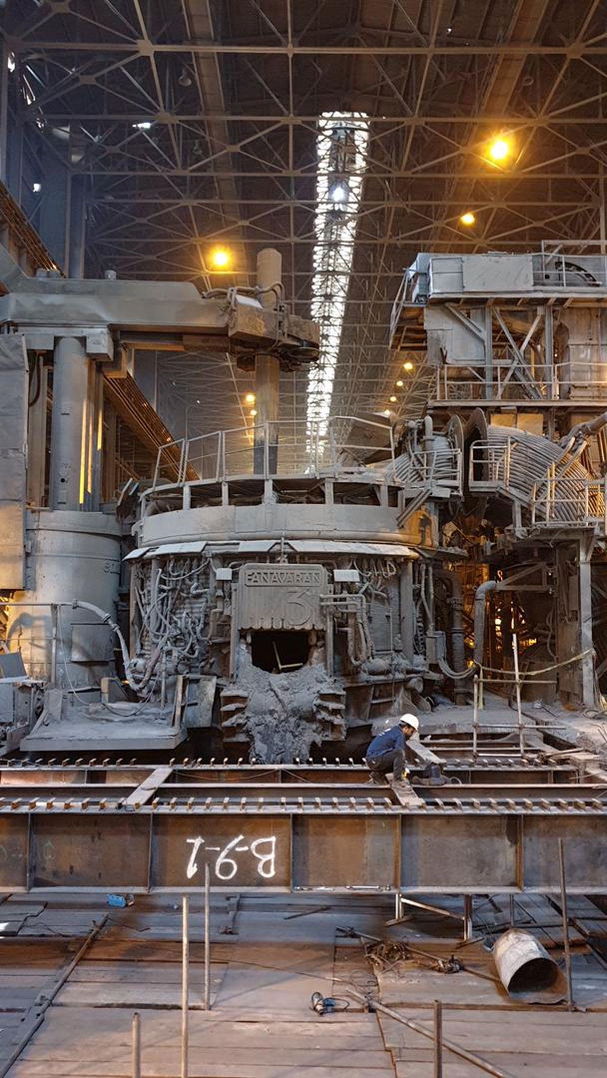 اصلاح کامل یک سازه کلیدی فولاد خراسان برای نخستین بار از زمان راه اندازی