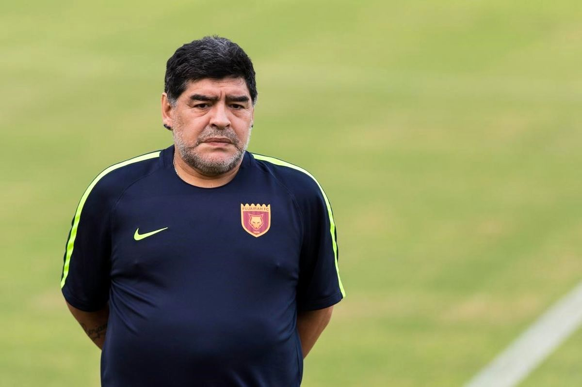 بازیکن ایرانی که مارادونا را شکست داد + عکس