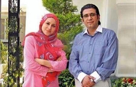 رضا رشیدپور و همسرش