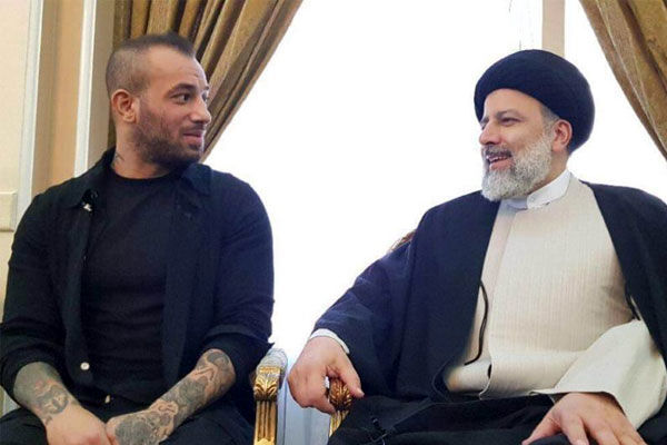 عکس امیر تتلو و ابراهیم رئیسی