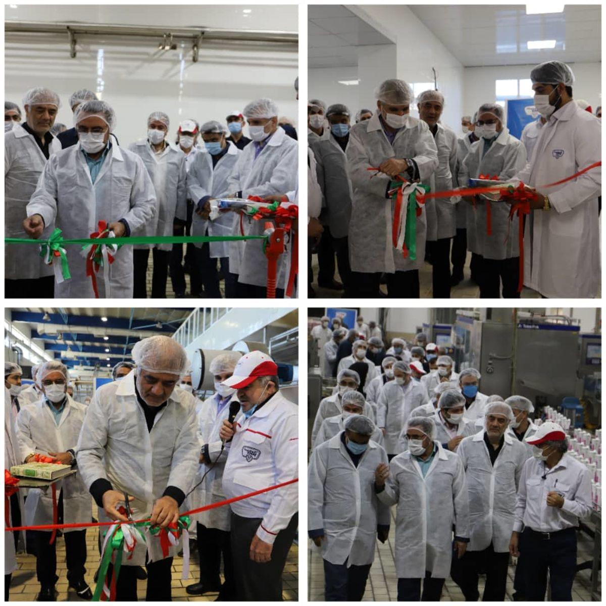 افتتاح ۴ خط تولید و رونمایی ۳ محصول تازه در پگاه تهران