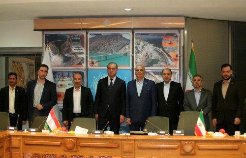 توافق وزیر انرژی و ذخایر آبی تاجیکستان با مدیرعامل شرکت آب نیرو