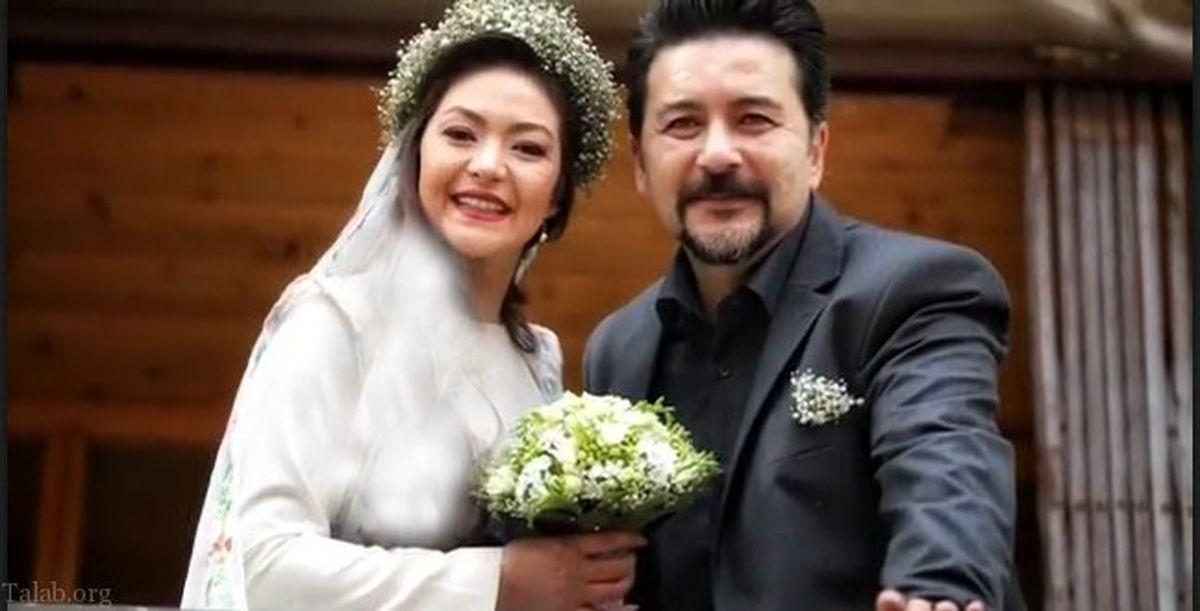 امیر حسین صدیق و همسرش | عکس