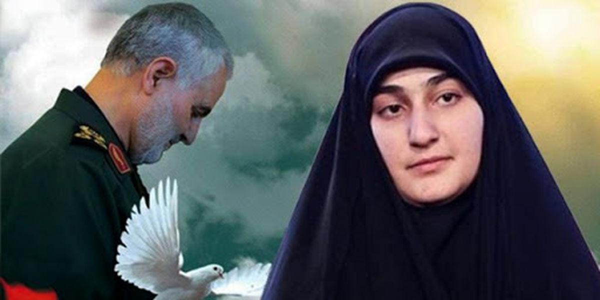 پیام دختر سردار سلیمانی به رهبران مقاومت فلسطین + جزئیات