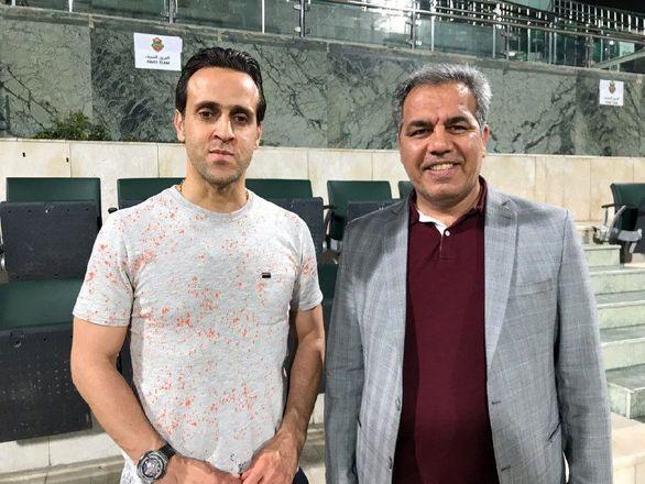 حضور علی کریمی در تمرین پرسپولیس ها در دبی + عکس