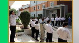 راس ساعت ۱۱ جلو ساختمان شهید مهدوی و درمحیط آزاد برگزار شد