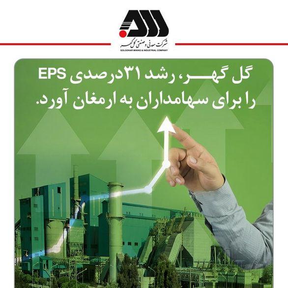 گل گهر، رشد 31درصدی EPS را برای سهامداران به ارمغان آورد