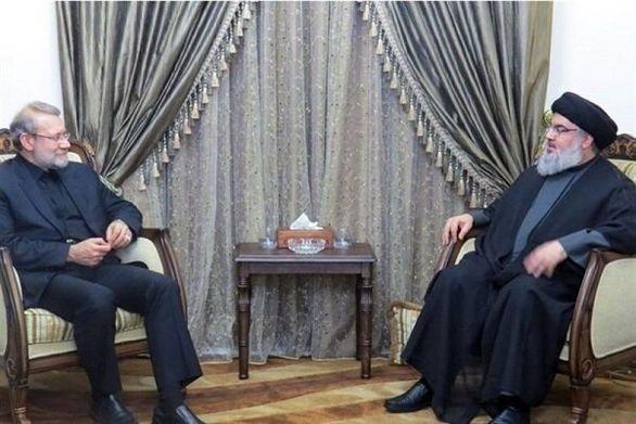 لاریجانی با دبیرکل حزب الله لبنان دیدار کرد