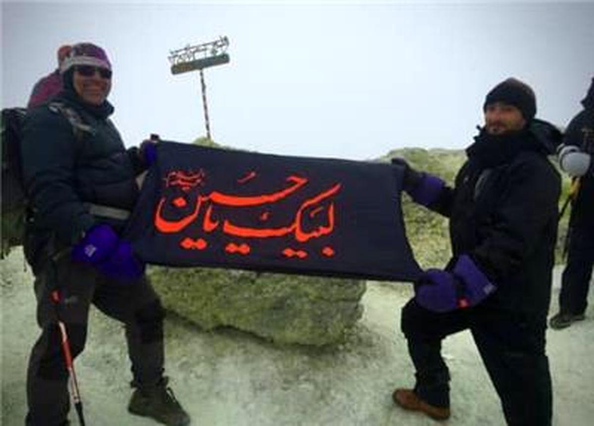 صعود انفرادی سرپرست تربیت بدنی مجتمع سنگ آهن سنگان به قله ۵۶۱۰ متری دماوند