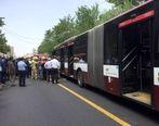 تصادف وحشتناک و مرگبار موتور سیکلت با BRT حادثه ساز شد + عکس