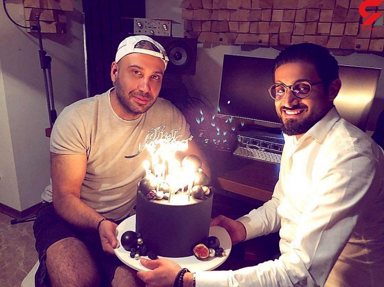 جشن تولد محسن چاوشی در استودیو +عکس