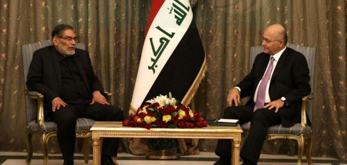 جزئیات دیدار مهم شمخانی و رئیس جمهور عراق
