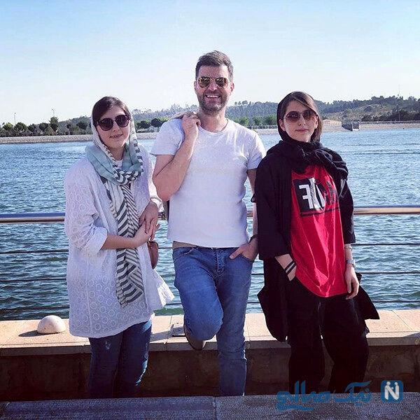 باربد بابایی مجری مشهور و دختران 18 ساله دوقلویش +عکس | نشان آنلاین