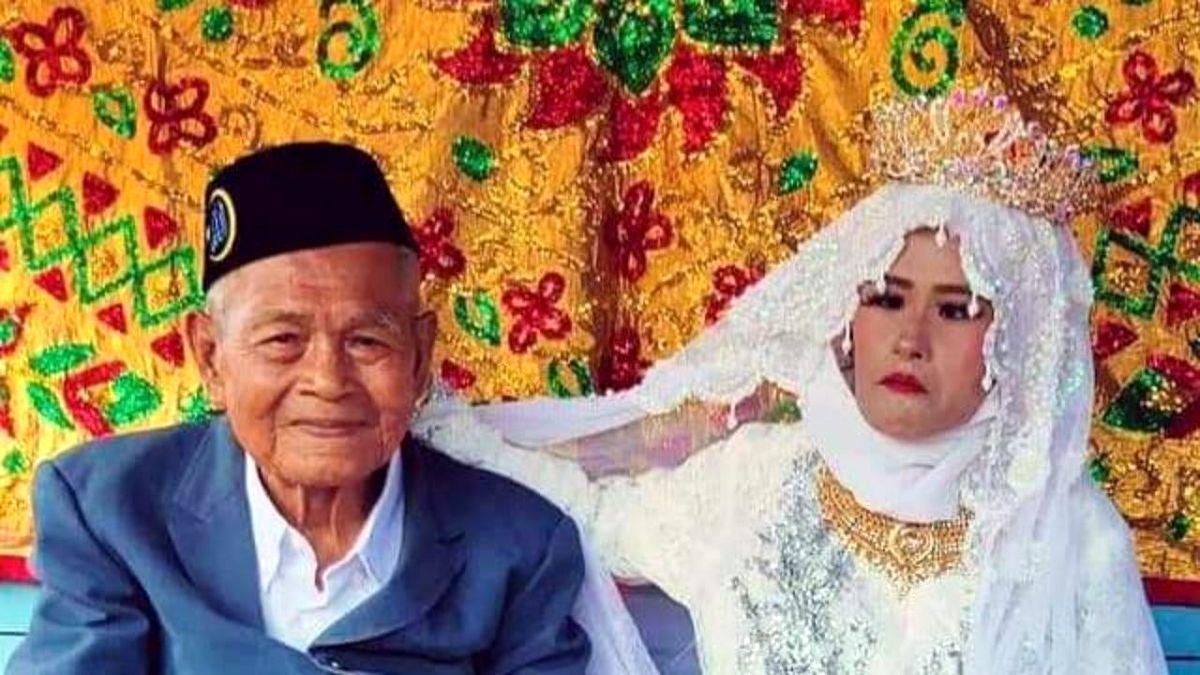 ازدواج مرد ۱۰۳ ساله با دختر ۲۷ ساله + عکس