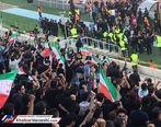 تعداد تماشاگران خانم در بازی ایران و کامبوج بیشتر از مردان است