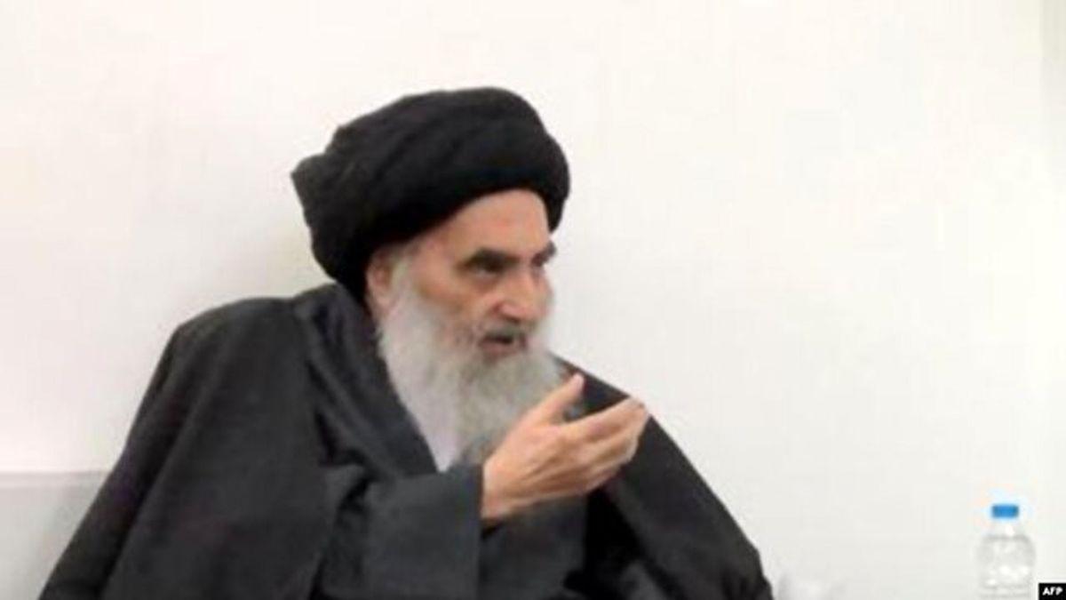 حمایت آیتالله سیستانی از ادامه تظاهرات در عراق