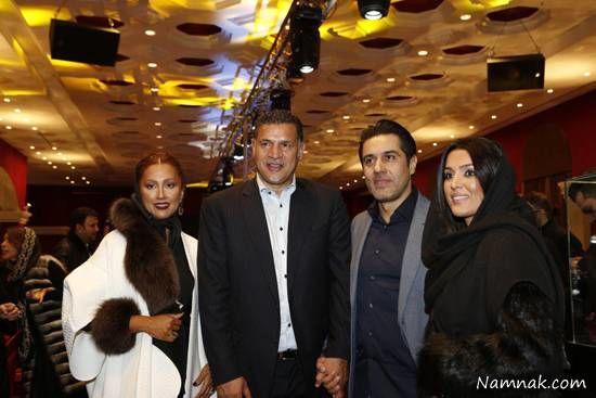 علی دایی در کنار همسرش