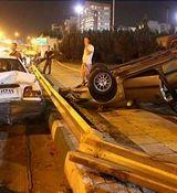 حادثه مرگبار در مسیر غرب به شرق بزرگراه آیت الله هاشمی رفسنجانی