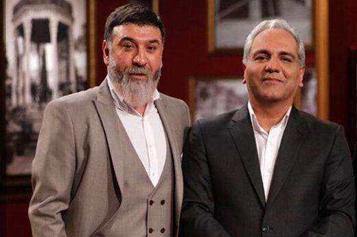 مهران مدیری  شوخی های عجیب با علی انصاریان در دورهمی + فیلم