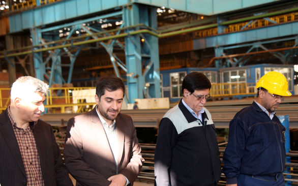 بازدید دادستان عمومی و انقلاب دادگستری لنجان از ذوب آهن اصفهان