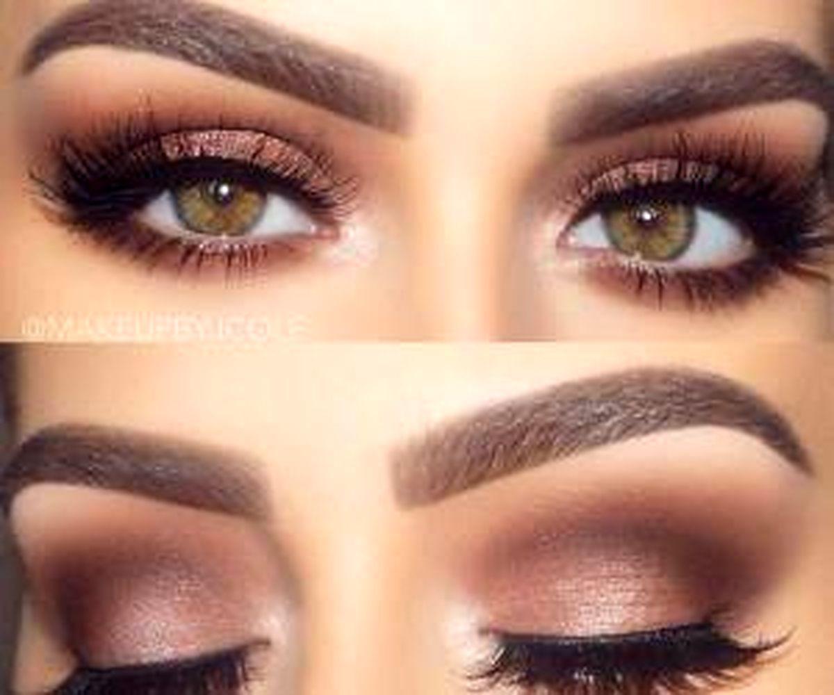 آرایش ساده و لایت برای چشم های ریز و درشت