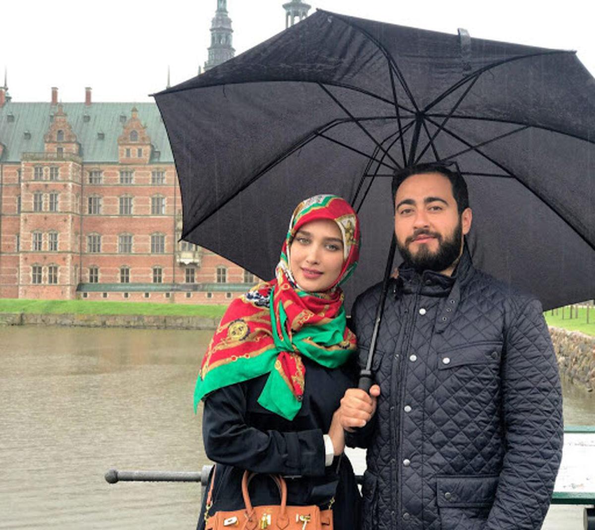 واکنش آناشید حسینی به شایعه ارتباط همسرش با ریحانه پارسا + عکس
