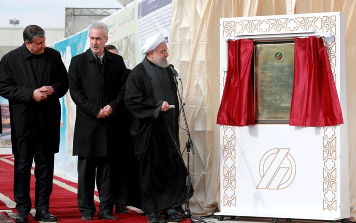 افتتاح خط آهن میانه - بستان آباد با بهره گیری از ریل ذوب آهن اصفهان