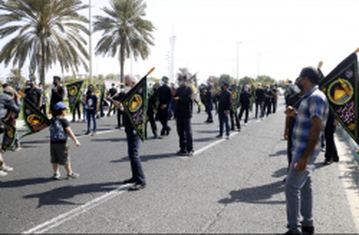 راهپیمایی جاماندگان اربعین حسینی در کیش