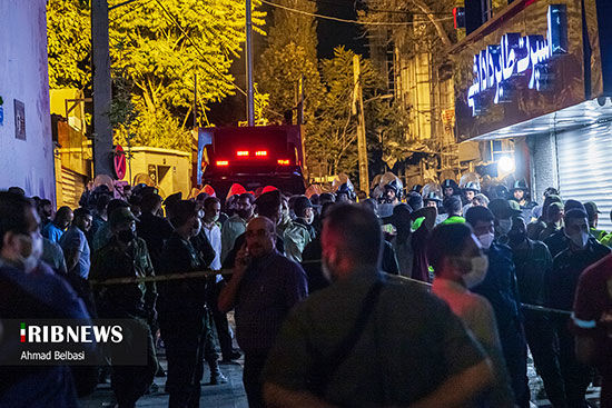 تصاویر جدید از حریق درمانگاه سینا در تهران