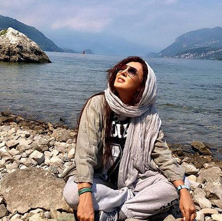 عکس دیده نشده از لیلا بلوکات در کنار دریا  + بیوگرافی و تصاویر جدید