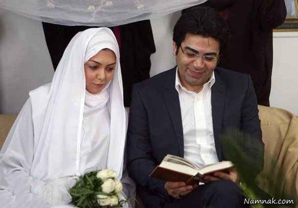 عکس های لو رفته از مراسم ازدواج آزاده نامداری و همسر اولش فرزاد حسنی + بیوگرافی و تصاویر