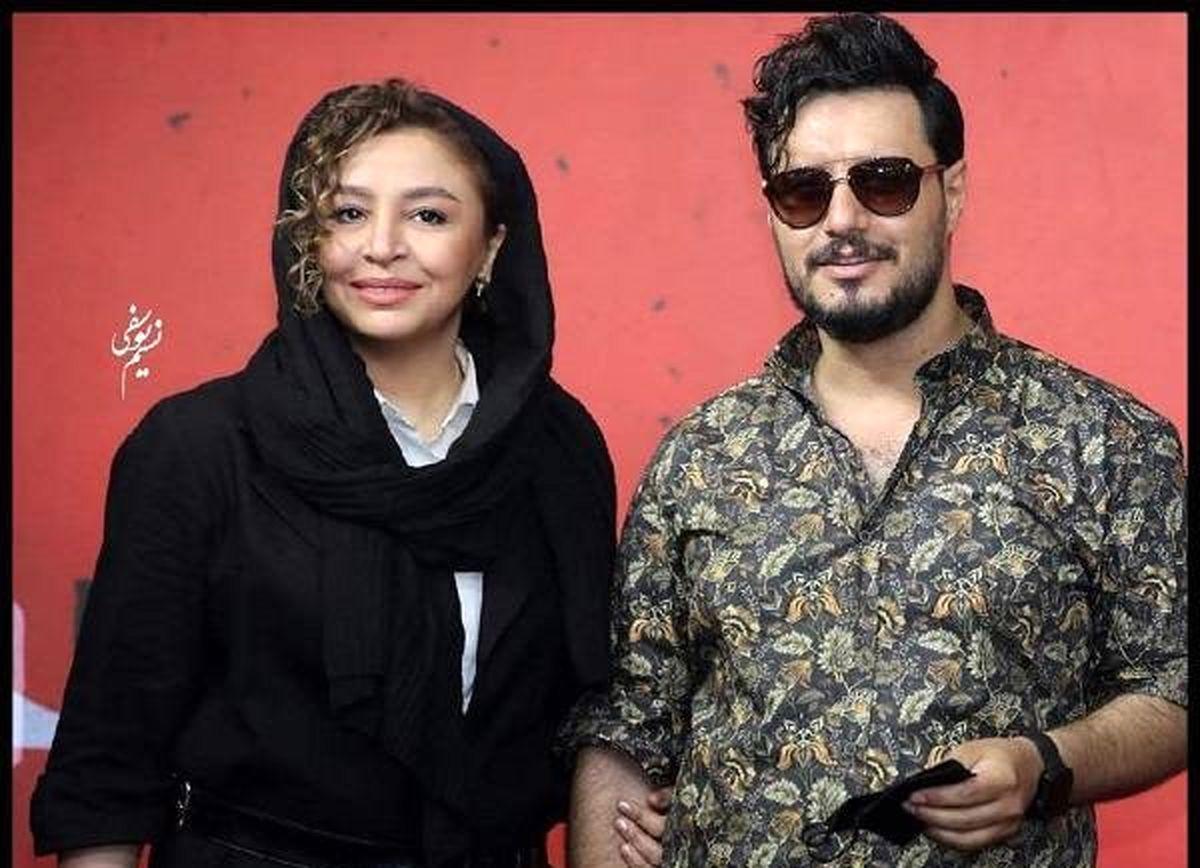 جواد عزتی در کنار همسر واقعی اش در پشت صحنه سریال زخم کاری   تصاویر جدید پشت صحنه سریال زخم کاری