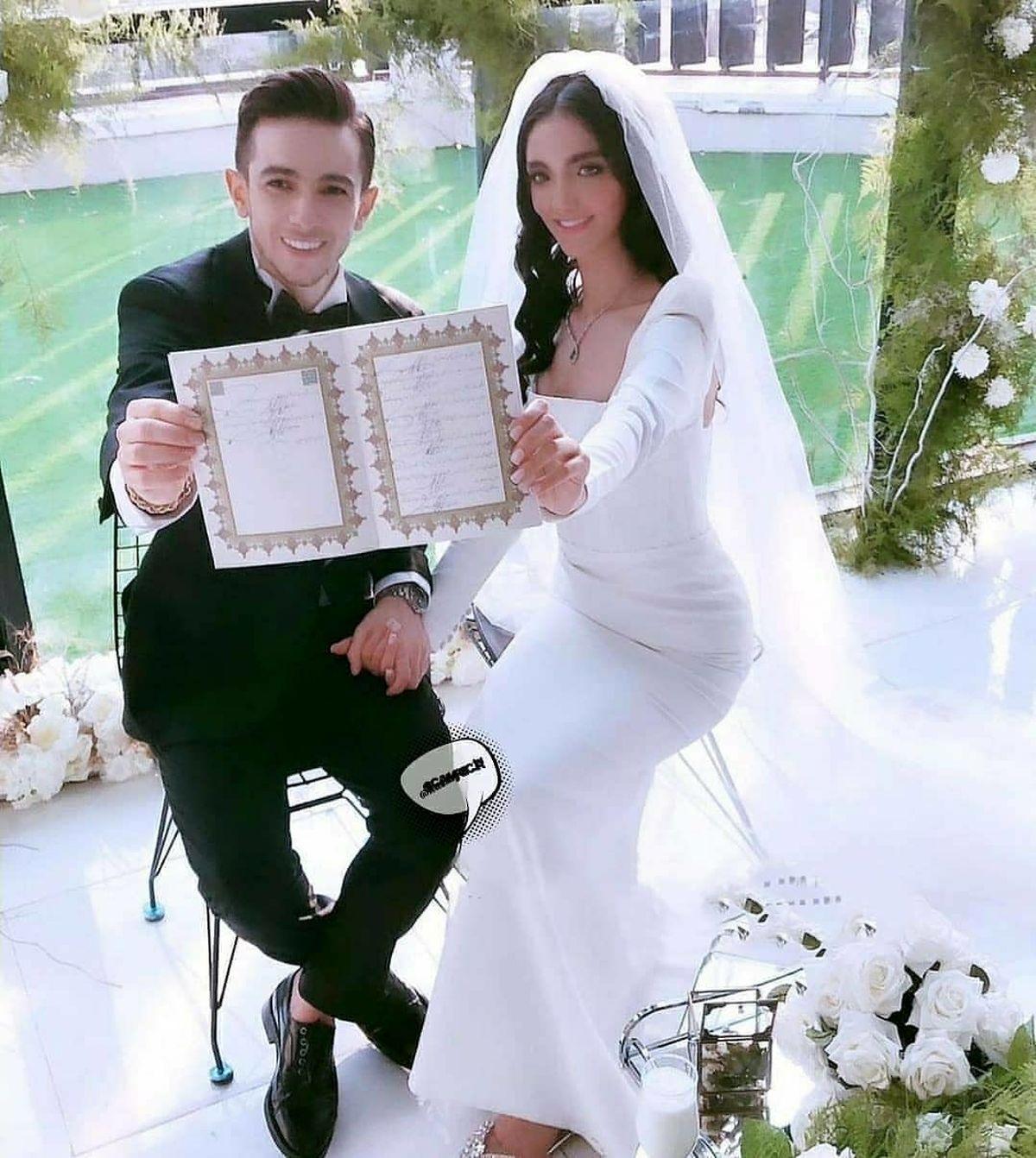 فرشاد احمدزاده فوتبالیست مشهور ازدواج کرد + عکس همسرش