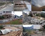 خسارت تندباد به بیش از ۱۰۰ واحد مسکونی در رامسر