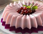 طرز تهیه ژله بستنی شیشه ای توت فرنگی+ آموزش گام به گام