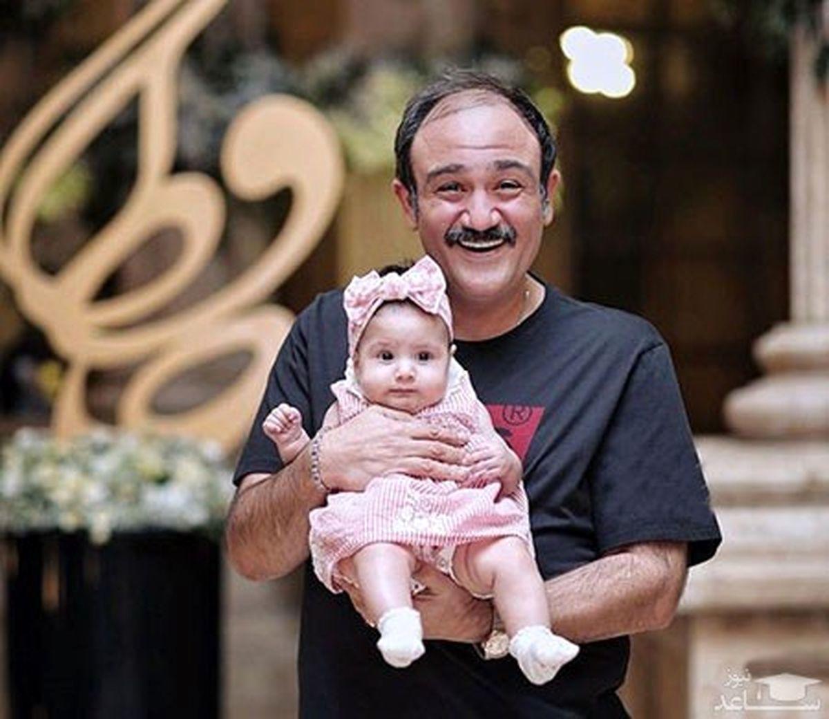 جدیدترین عکس مهران غفوریان و دخترش هانا + عکس